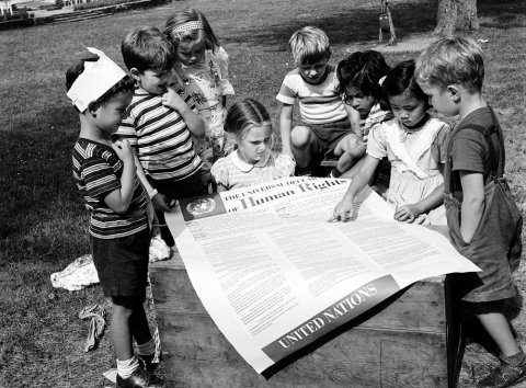 1950-second-anniversary-adoption-universal-declaration-human-rights-students-un-international